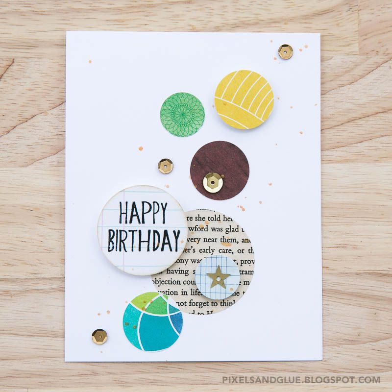 Happy Scrappy Friends   Circle Challenge card by @pixnglue
