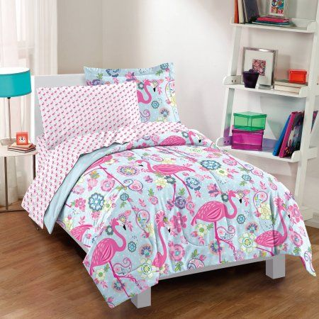 Home Flamingo Bedding Comforter Sets Girls Full Bed