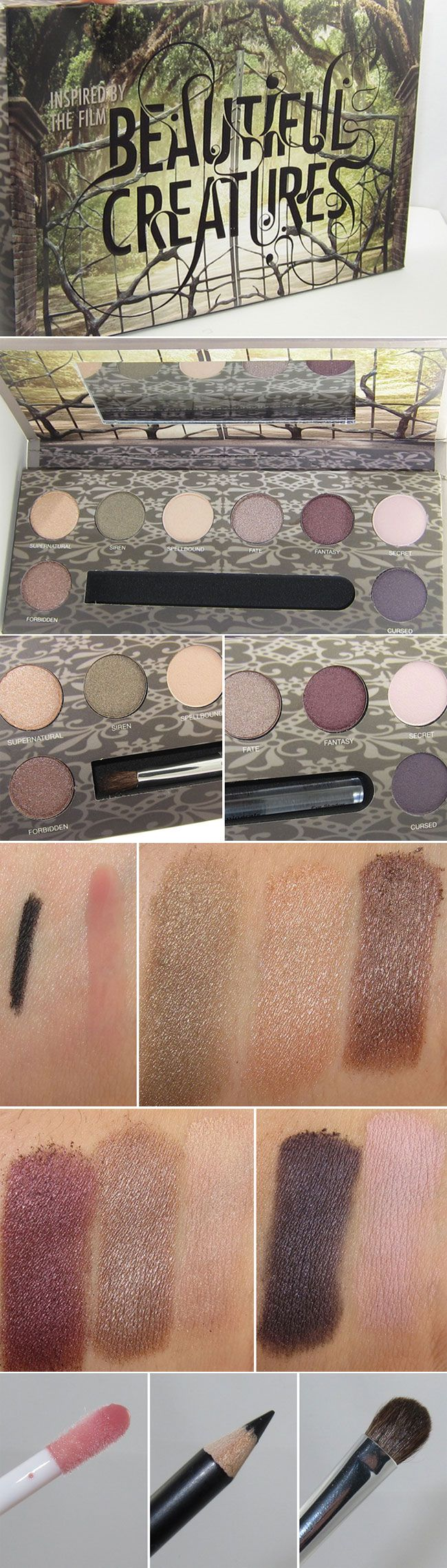 WANT IT :: #ULTA :: Pur Minerals Beautiful Creatures Palette, Limited Edition :: $39   ulta.com :: 8 shadows (3 matte, 5 shimmer in taupe, nude, moss, neutral, mushroom, plum, pink & violet), lipgloss, black eyeliner pencil & a brush (a good one!) :: Smooth & velvety shadows (on par w/ Stila but w/o the frostiness); blend like butter w/ great excellent color payoff. Gloss is sheer w/ little pigment & a glassy feel. Eyeliner works well: tug-free app & great pigment.   #musingsofamuse