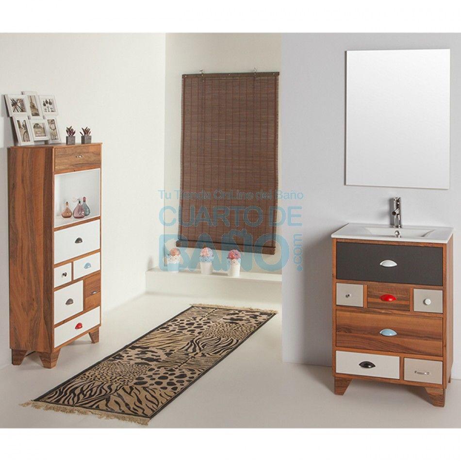 Mueble de baño VINTAGE 05 Verrochio 60 cm con LAVABO ...