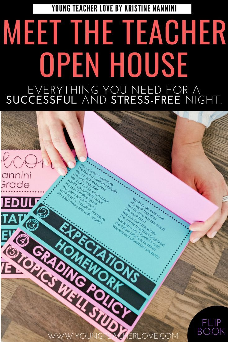 How to Plan Your Meet the Teacher Open House Night - Young Teacher Love
