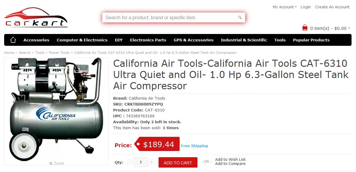 California Air ToolsCalifornia Air Tools CAT6310 Ultra