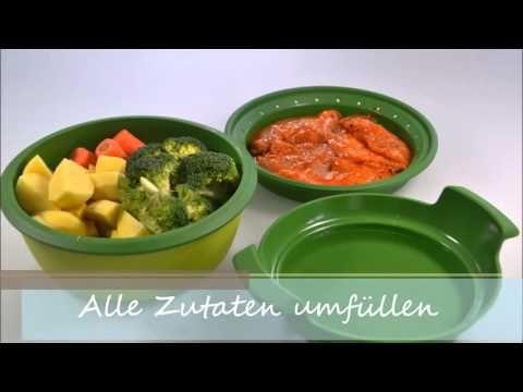 H hnchen und kartoffel im dampfgarer youtube - Reis kochen mikrowelle ...