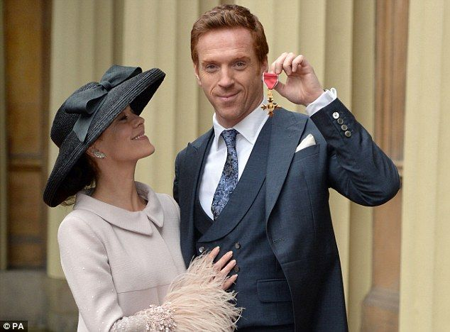 Damian Lewis cuddles up to wife Helen McCrory at awards ...