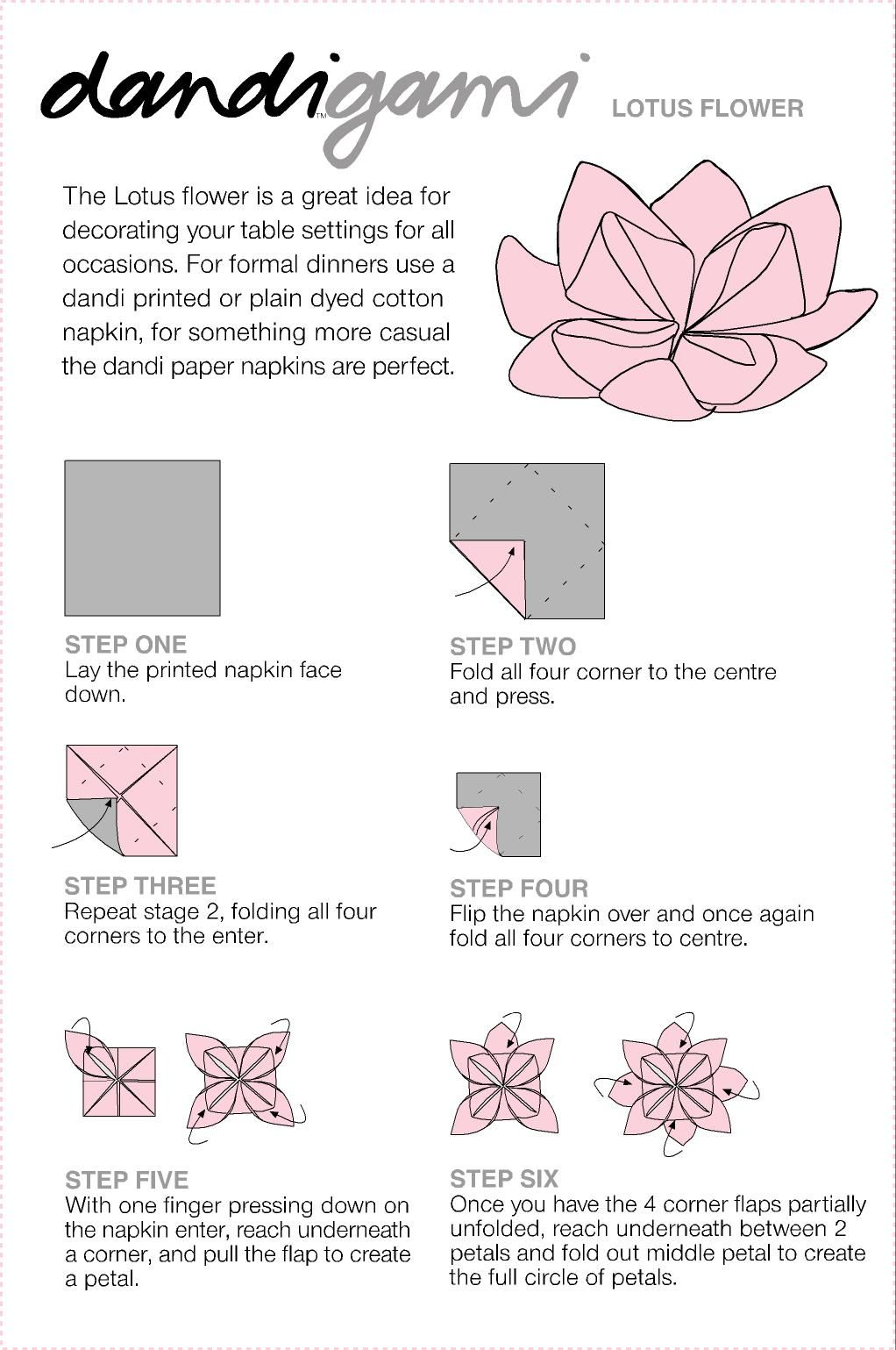 Paper Napkin Folding Ideas For Weddings Folding Instructions To