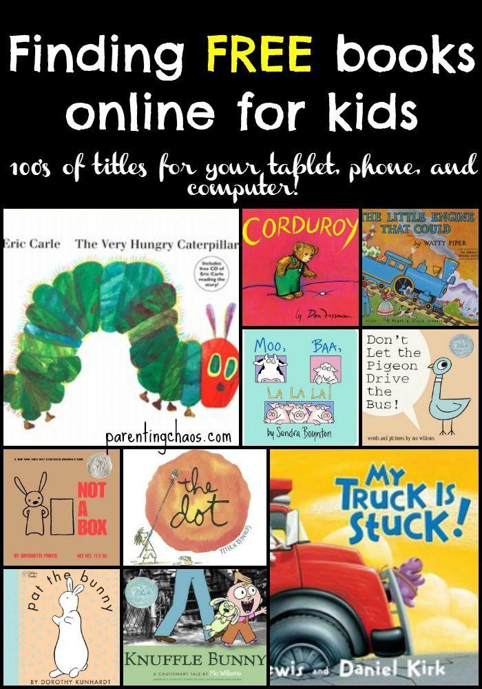 Finding Free eBooks for Kids   Free kids books, Kids ...