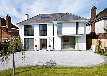 A detached home after remodelling