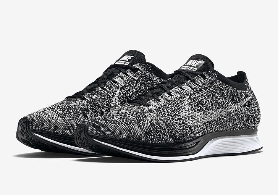 Nike Flyknit Racer Mens Running Shoes 7.5 Black White 526628 012 Oreo  Nike   RunningCrossTraining b5c57aa99