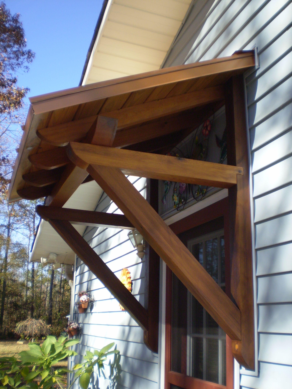 Cedar awning