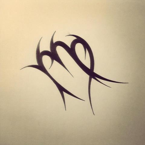 Virgo Symbol Tattoo Designs Virgo Zodiac Tattoo Design Tribal
