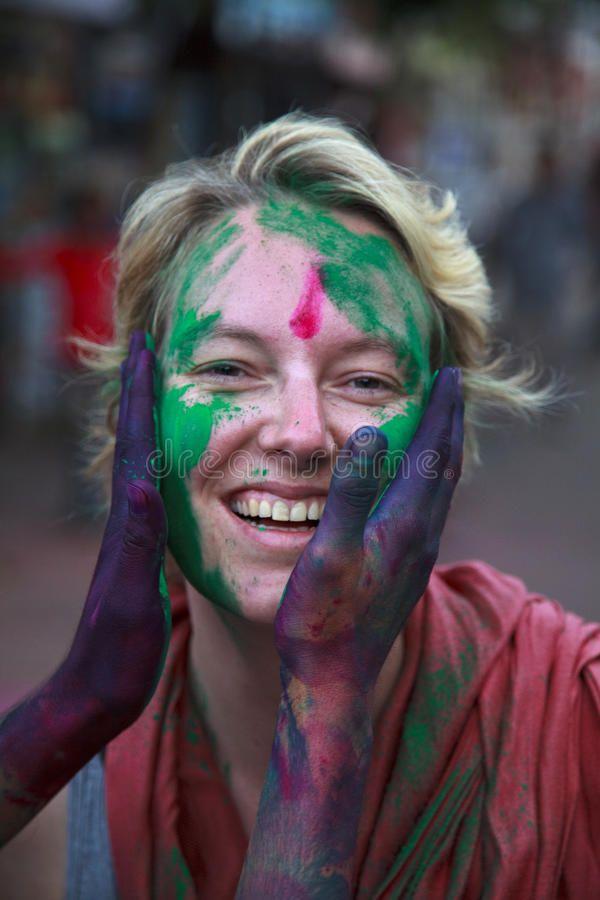 Holi festival in India People at the holi festival in India Holi or Holli is