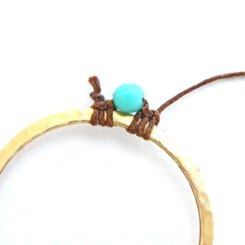 An Erin Siegel tutorial - how to wrap and add beads to hoops, rings and chain links for earrings, bracelets, necklaces. She uses waxed linen, but you could use any fiber. Full tute.  #Beading #Jewelry #Tutorials