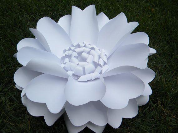 Large Paper Flower - Wedding Flower Backdrop, Wedding Centerpiece, Nursery Wall Decor, Party Decor, Shower Decor