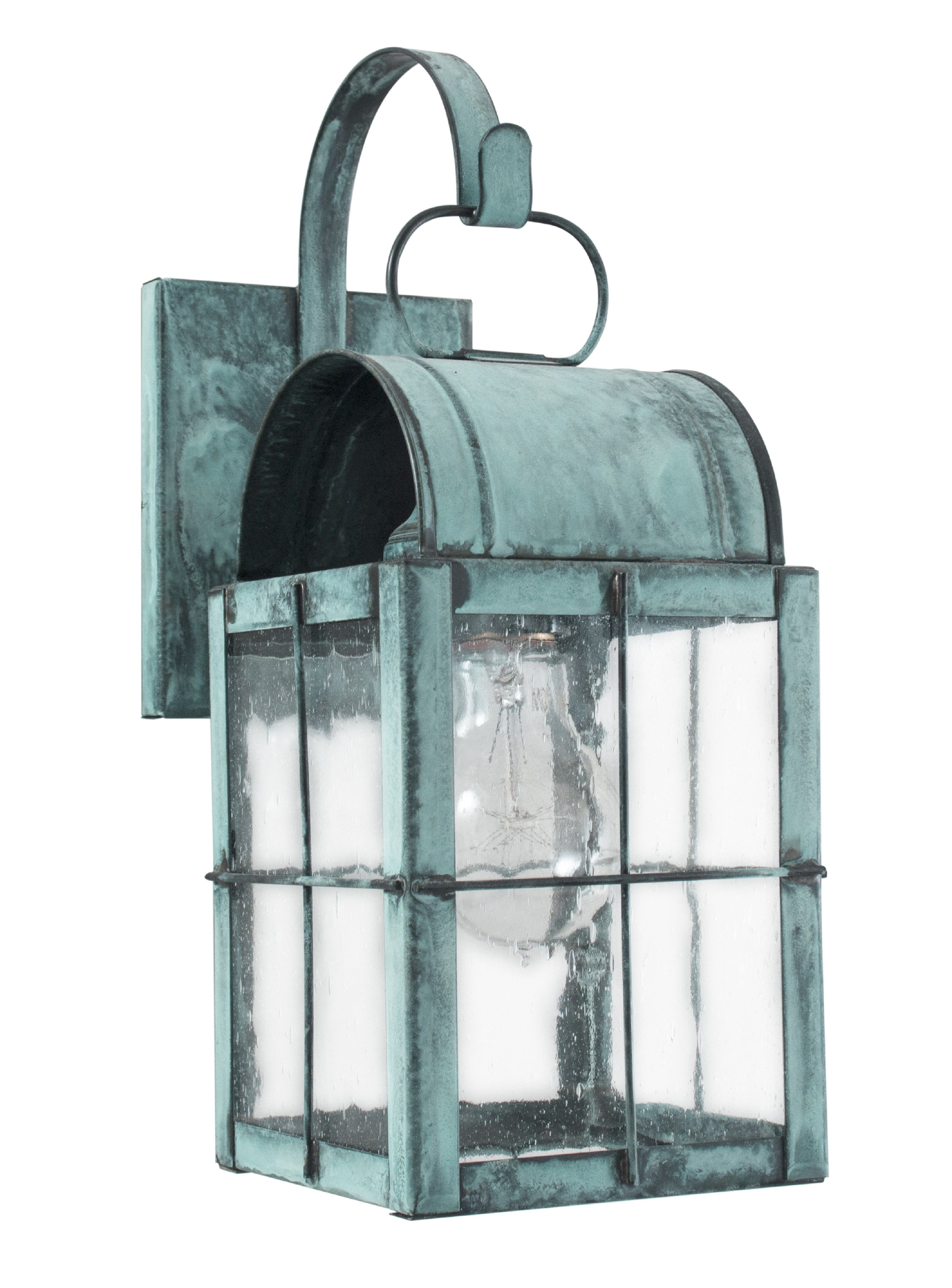 Brass Traditions 131 P Wall Lantern In Verde Green