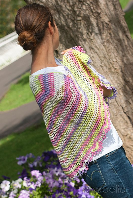 Light summer shawl, crochet pattern - Anabelia Craft Design #crochet ...