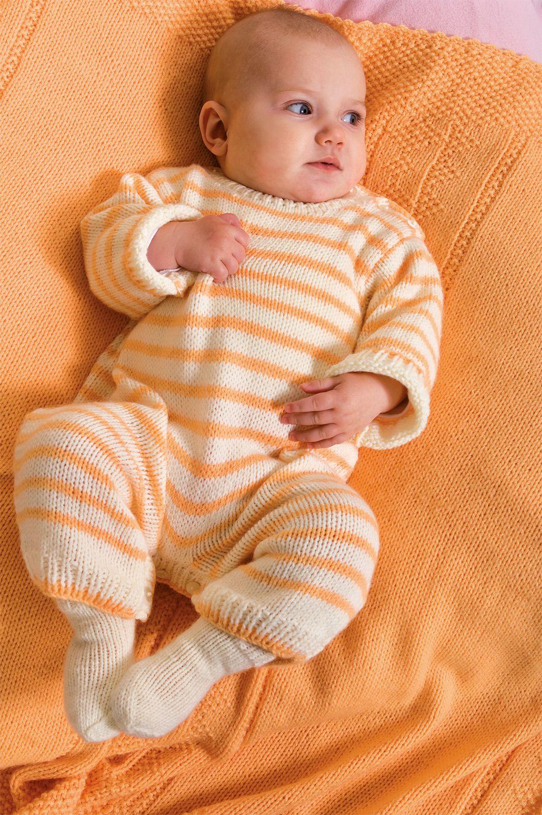 Baby Strampler Knitcrochetkids Pinterest Baby Knitting