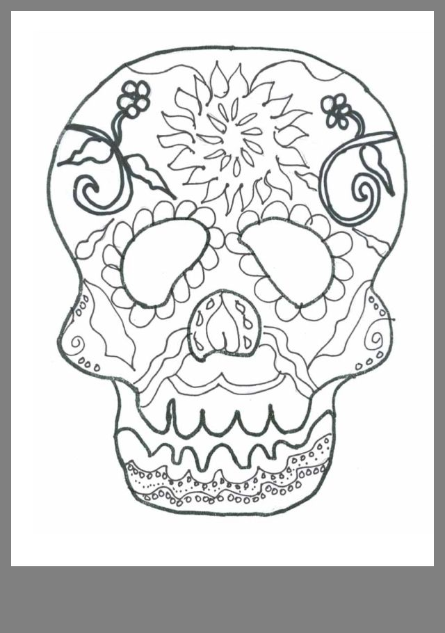 Day of the dead | Skull coloring pages, Halloween coloring ...