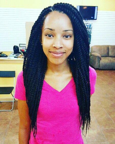 Marley Twists medium size waist length | Medium hair ...