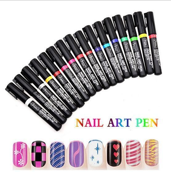 Manicure Nail Art Design Painting Drawing Pen for UV Gel Polish ...