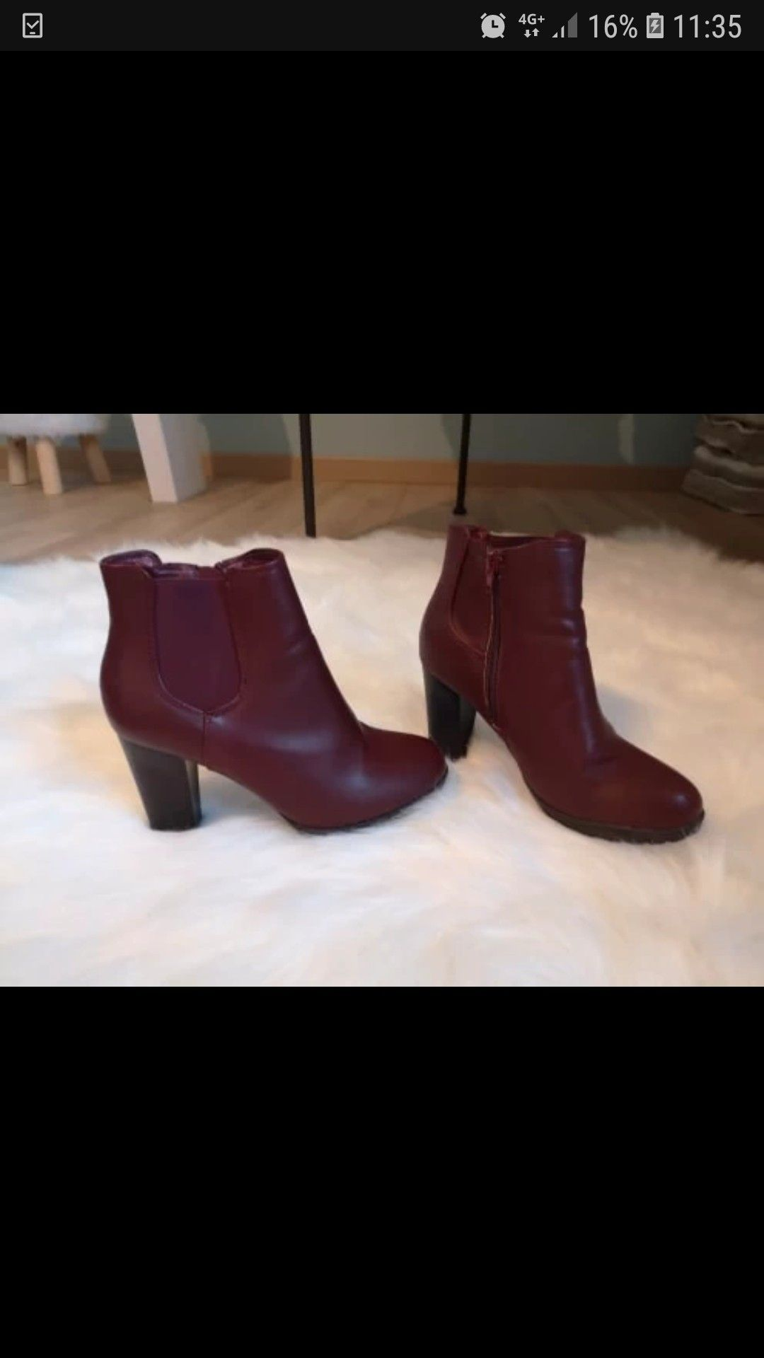 6462021a8fc0 Bottines bordeau achetee sur Vinted