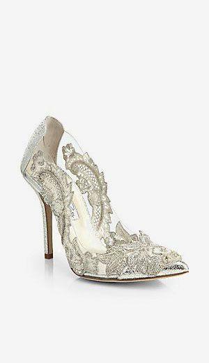 Oscar de la Renta Alyssa Beaded-Applique...a mere $1190 at Saks, but aren't they pretty!
