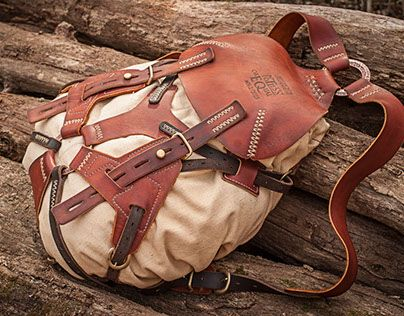 Photo of #062 leather and canvas rucksack