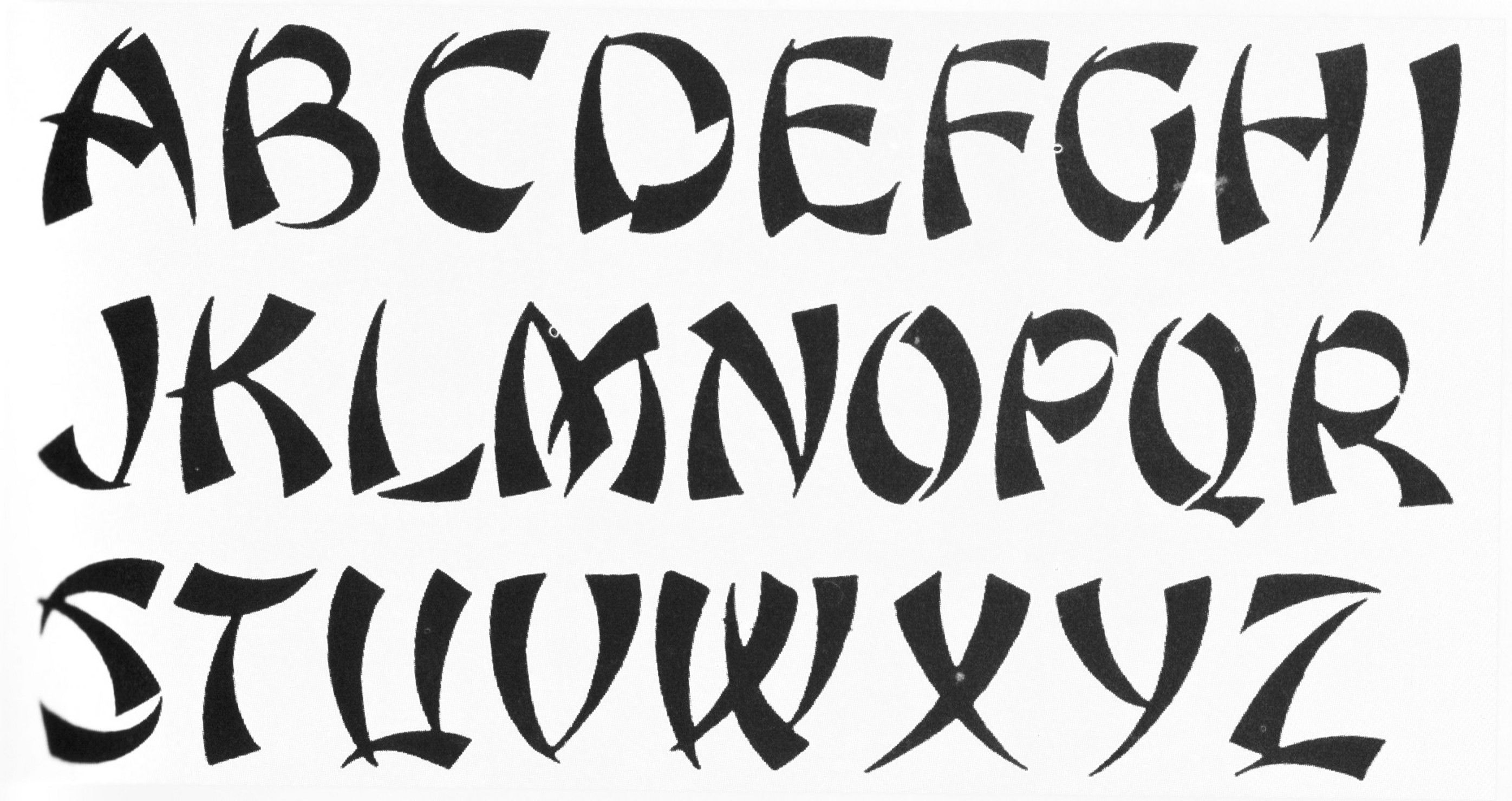 Cool Tattoo Font Design Fontes de letra, Letras chinesas