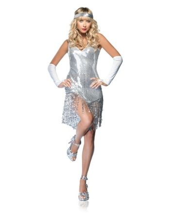 Flapper Gatsby Girl Costume - Get ready to be the talk of the night! Every guy will desire to be the date of this Gatsby Girl!  @slfree18 - Glamorous, stylish and classy,  this costume looks perfect for you!