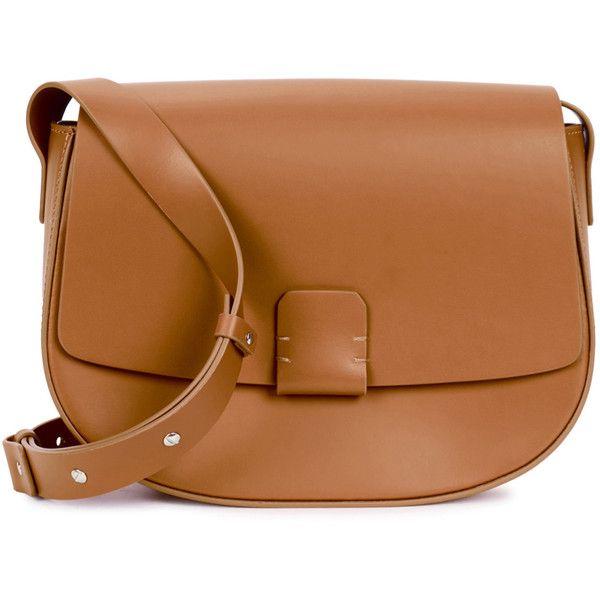 Nico Giani Lobivia Fawn Leather Saddle Bag 24 490 Rub Liked On Polyvore Featuring