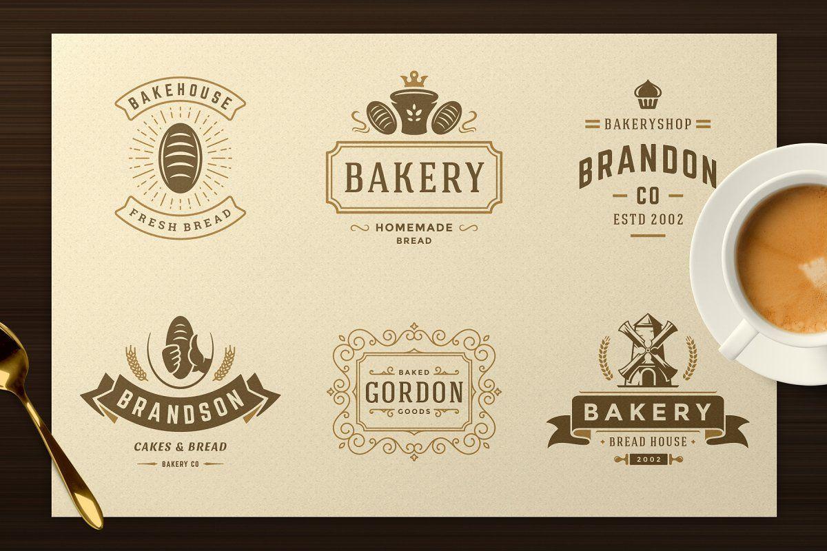 Set of bakery logos and elements Logo Templates