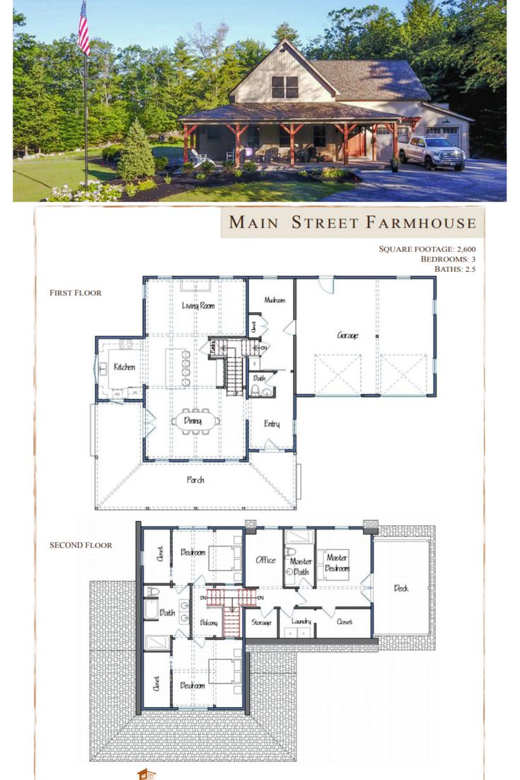 Main Street Farmhouse Farmhouse Floor Plans Barn Homes Floor Plans House Plans Farmhouse