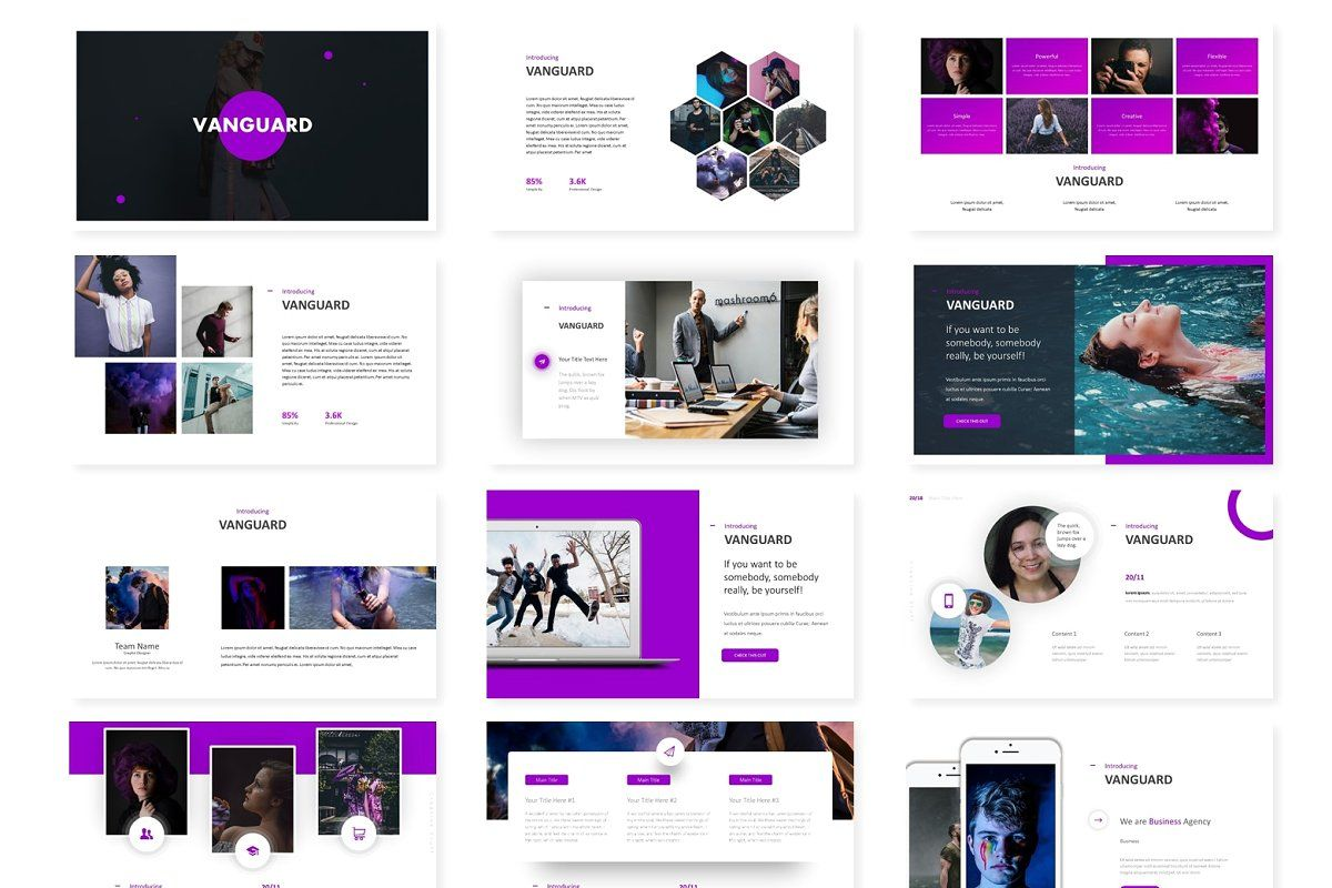 Vanguard Keynote Template In 2020 Keynote Template Templates Creative Icon