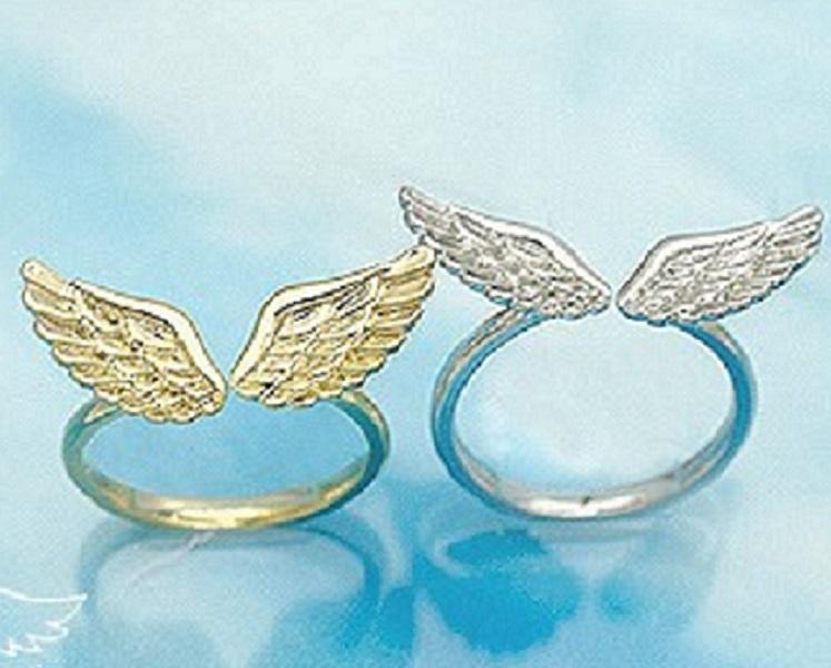 Inspirational Women's Angel Wing Rings