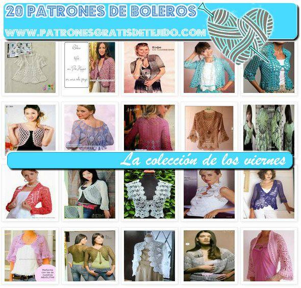 Diagramas boleros para dama tejidos gratis | crochet blusas ...