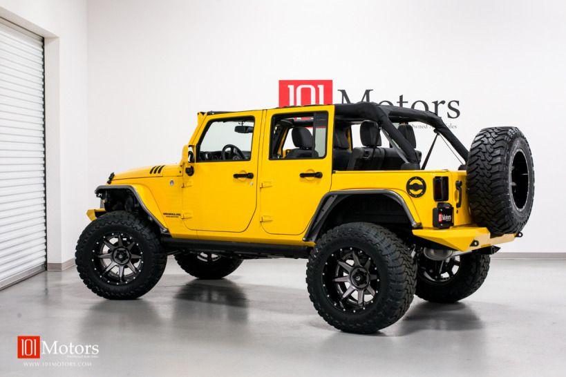 2015 Jeep Wrangler Unlimited Hardtop Baja Yellow 101