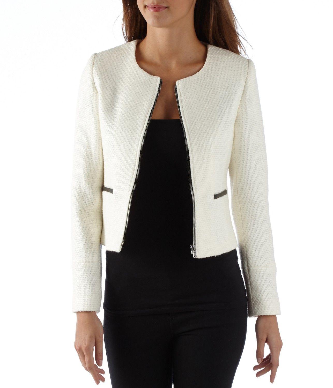 achat vestes et manteaux femme veste femme courte zipp e. Black Bedroom Furniture Sets. Home Design Ideas