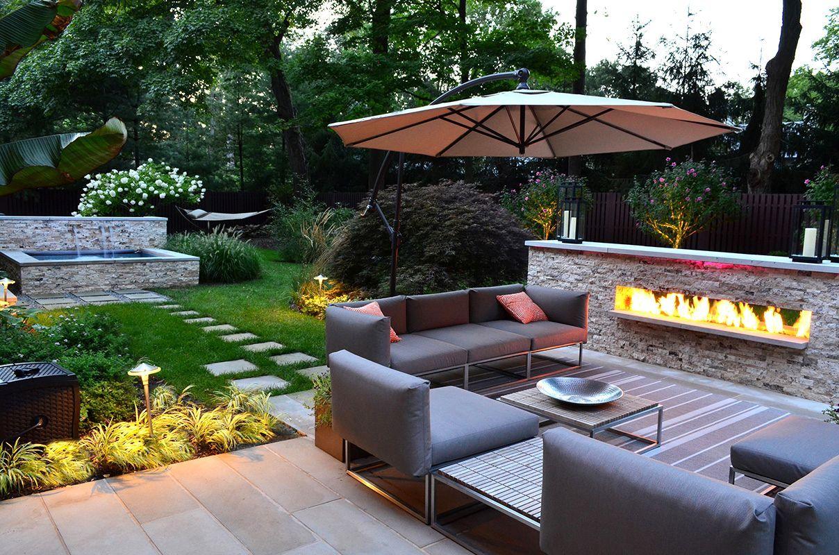 Small Square Backyard Landscaping Ideas Exterior Inspiring Design Modern