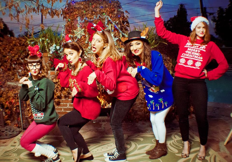 Cheesy Christmas Card Ugly Christmas Sweater Sears Portrait Holiday