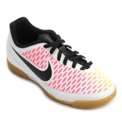 Chuteira Nike Magista Ola IC Futsal Infantil Branco e Pink ... 23f8fc714ea73