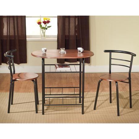 Tms 3 Piece Bistro Dining Set Walmart Com Kitchen Table Settings Small Kitchen Table Sets Bistro Table Set