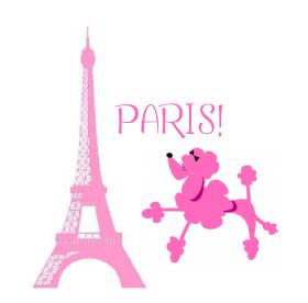 pink poodle in paris party birthday party ideas for kids rh pinterest com Paris Stamp Clip Art Paris France Clip Art