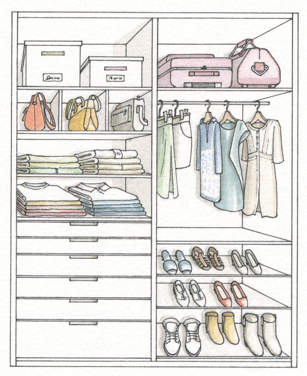 Armario ordena mejor y duplica el espacio for Dormitorio para colorear