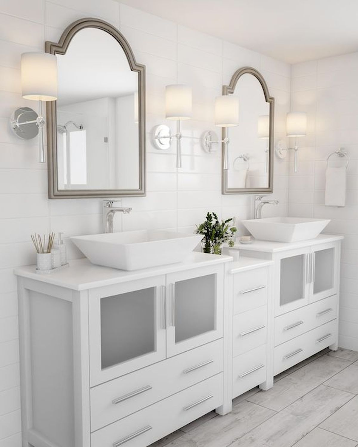 60 Fantastic Farmhouse Bathroom Vanity Decor Ideas And