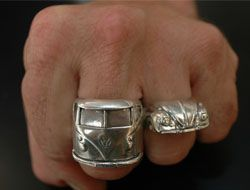VW Bus Ring & VW Bug Ring by aliciadesign, via Flickr