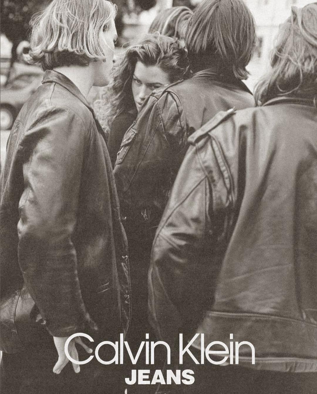 Calvin Klein Jeans 1991 - Marcus Schenkenberg & Carre Otis ...  Marcus Schenkenberg Calvin Klein Ad