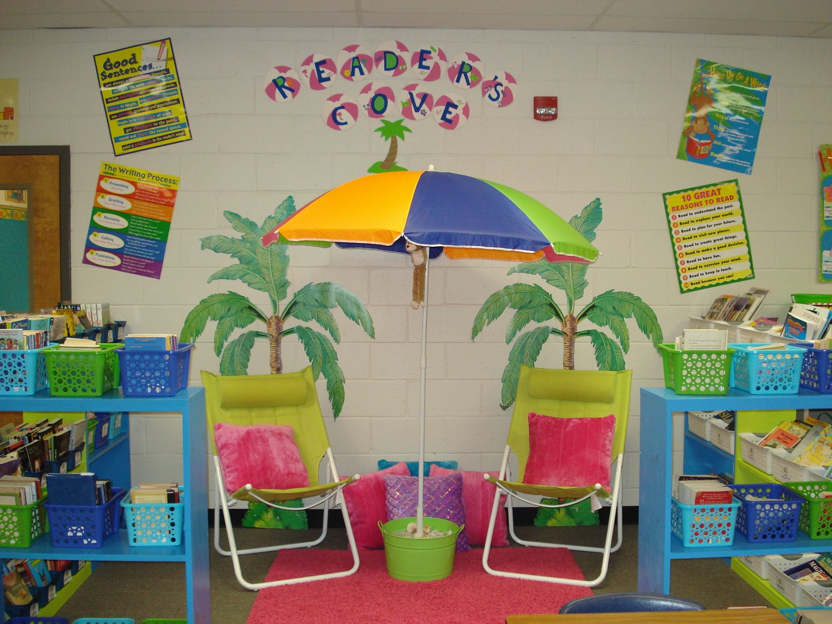 Classroom Decoration Charts For Kindergarten ~ Quot reader s cove classroom reading area by ashley cole