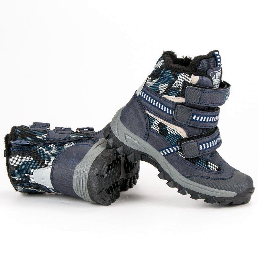 Kozaki Dla Dzieci Americanclub American Club Niebieskie Sniegowce Na Rzepy American Boots Hiking Boots Shoes