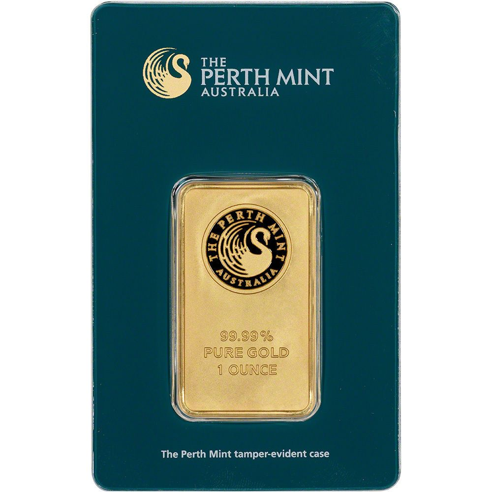 1 Oz Gold Bar Perth Mint 99 99 Fine In Assay Ebay Gold Bar Gold Bullion Bars Mint Gold