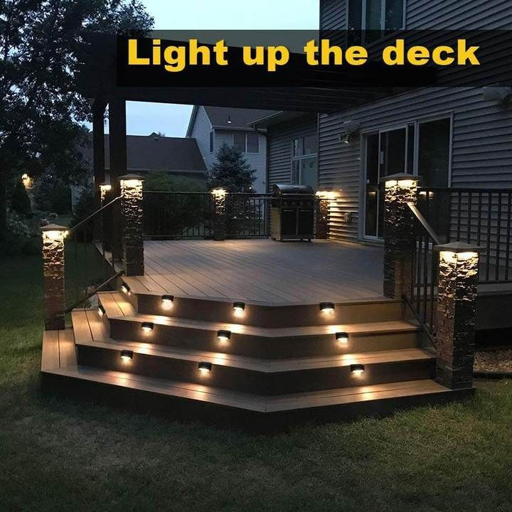 Outdoor Solar Deck Lights Ultimdeal Solar Deck Lights Deck Lights Outdoor Solar