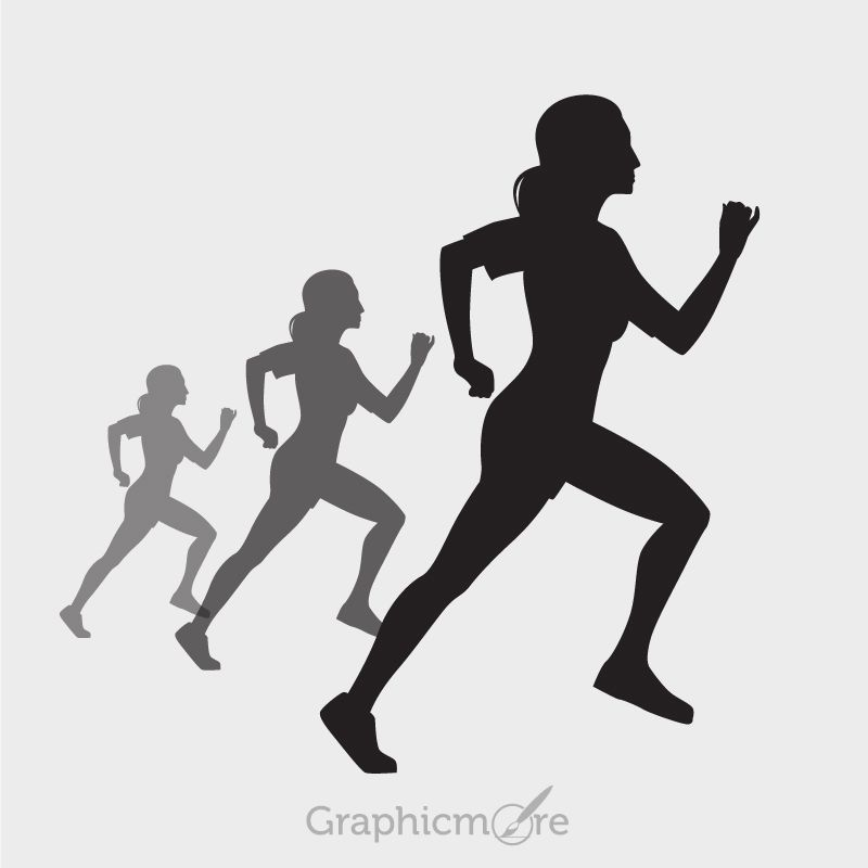 Pin By Graphicmore On Projekty Na Vyskusanie Running Silhouette Silhouette Design Running Women More than just a fashion statement. running silhouette